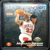 MICHAEL JORDAN 96 97 TOPPS STADIUM CLUB TOP CROP INSERT #TC9