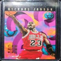 MICHAEL JORDAN 95 96 NBA HOOPS CRUNCHERS INSERT #1