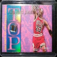 MICHAEL JORDAN 95 96 NBA HOOPS TOP 10 INSERT #AR7