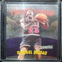 MICHAEL JORDAN 97 98 TOPPS STADIUM CLUB HOOP SCREAMS INSERT #HS10