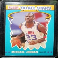 MICHAEL JORDAN 90 91 FLEER '90 ALL-STARS INSERT #5