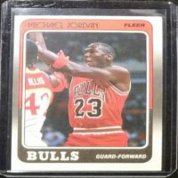 MICHAEL JORDAN 88 89 FLEER INSERT #17 3RD YEAR CARD