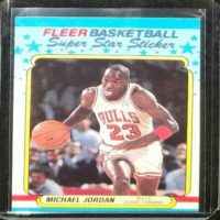 MICHAEL JORDAN 88 89 FLEER SUPER STAR STICKER #7