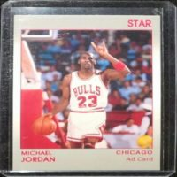 MICHAEL JORDAN STAR PROMO CARD