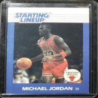 MICHAEL JORDAN 88 89 KENNER STARTING LINEUP CARD
